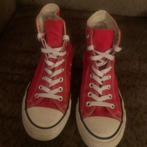 Red Converse High Top Sneaks